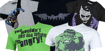 French Connection's Hulk and Batman Shirts