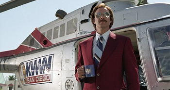 Ron Burgundy in Anchorman