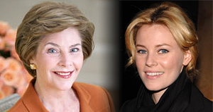 Elizabeth Banks as Laura Bush in W