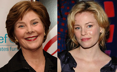 Elizabeth Banks as Laura Bush