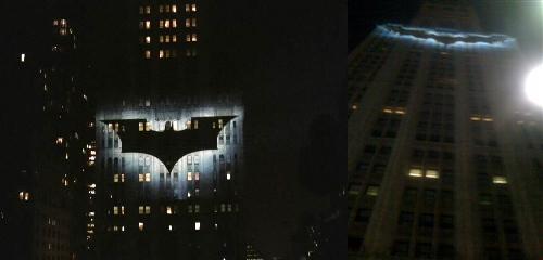 Bat Symbol on the Building!