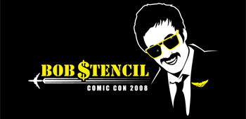 Bob Stencil at Comic-Con - Free Limited Edition T-Shirts!