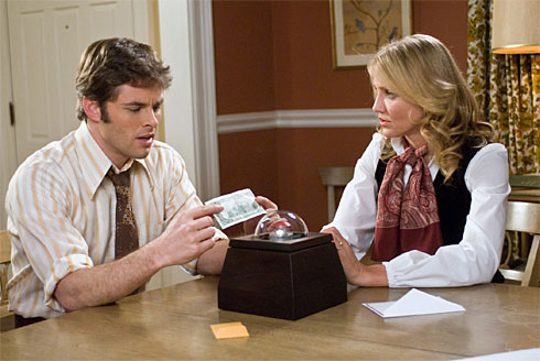 James Marsden and Cameron Diaz in Richard Kelly's The Box