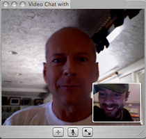 Bruce Willis iChat