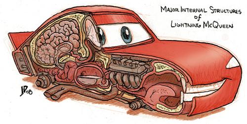Inside Lightning McQueen