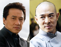 Jackie Chan and Jet Li
