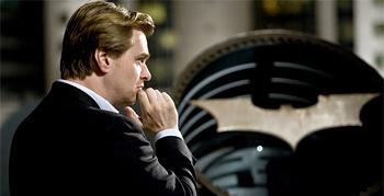 Christopher Nolan on the set of The Dark Knight