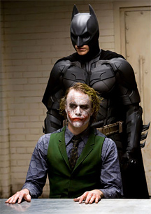 Batman and the Joker in The Dark Knight