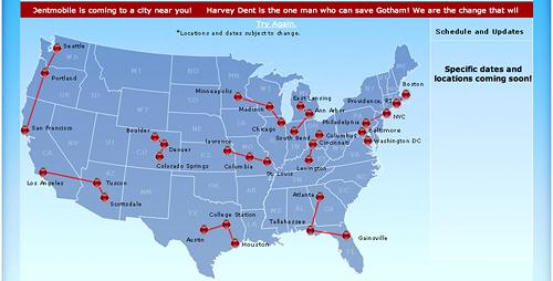Dentmobile Tour Map