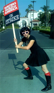 Diablo Cody Posing for the Strike