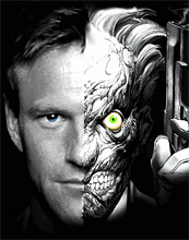 Aaron Eckhart as Two-Face