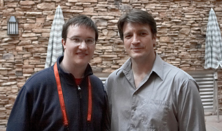 Nathan Fillion and Alex Billington from FirstShowing.net