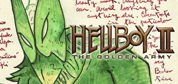 Take a Look Inside Guillermo del Toro's Hellboy II Diary