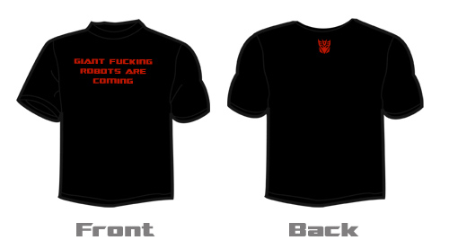 Giant Fucking Robots Are Coming Shirts