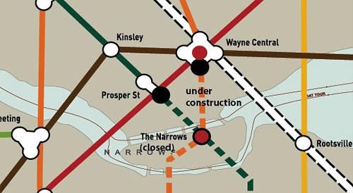 Gotham City Rail Map