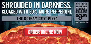 Gotham City Pizzeria Special Promotion