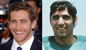 Jake Gyllenhaal and Joe Namath