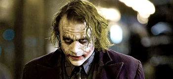 Heath Ledger as Joker in The Dark Knight