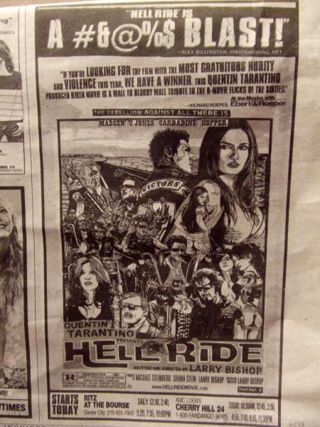 Hell Ride - FirstShowing.net Quote