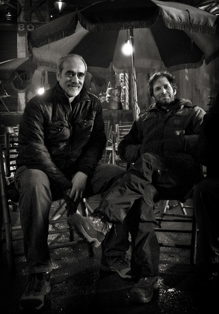 Herb Gains and Zack Snyder on the Watchmen set