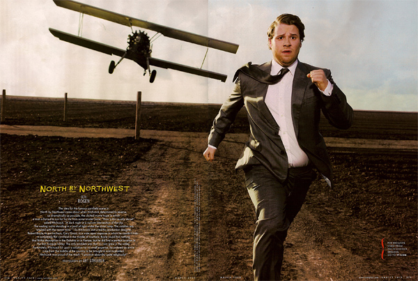 Seth Rogen in North by Northwest