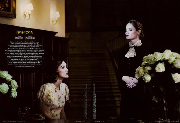 Keira Knightley and Jennifer Jason Leigh in Rebecca