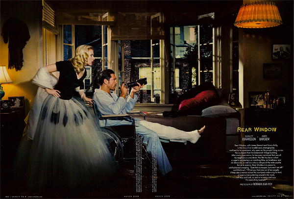Scarlett Johansson and Javier Bardem in Rear Window