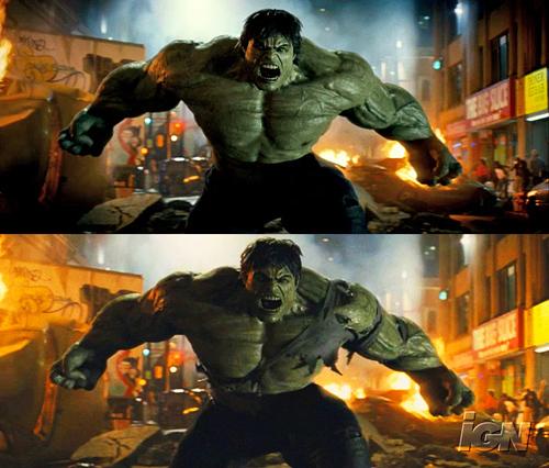 Hulk CGI Comparison