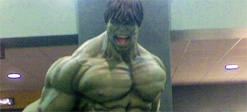 Giant Hulk Statue Invades Theaters Everywhere!