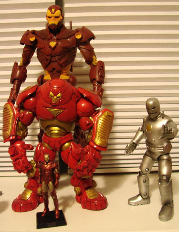 A fraction of my Iron Man figure collection