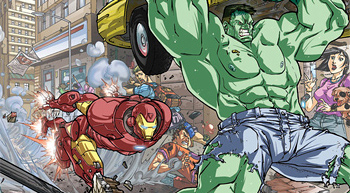 Iron Man and Hulk