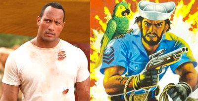 Dwayne Johnson as Shipwreck in G.I. Joe