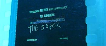 The Joker's Defaced Dark Knight Trailer!