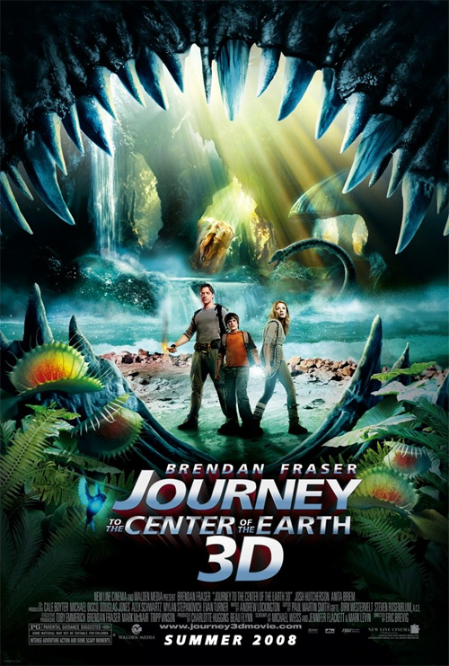 Journey to the Center of the Earth 3D Poster