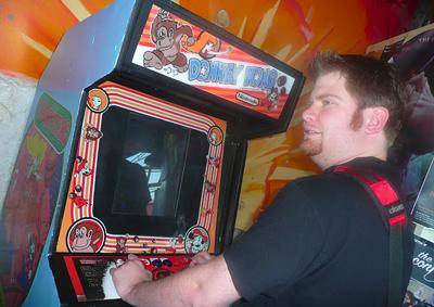 Ken playing Donkey Kong