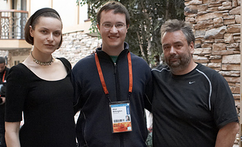 Rie Rasmussen, Luc Besson and Alex Billington from FirstShowing.net