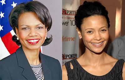 Thandie Newton as Condoleezza Rice