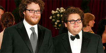 Seth Rogen and Jonah Hill at the Oscars