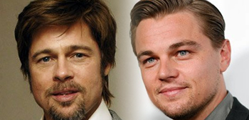 Brad Pitt and Leonardo DiCaprio in Inglorious Bastards
