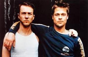 Brad Pitt and Edward Norton
