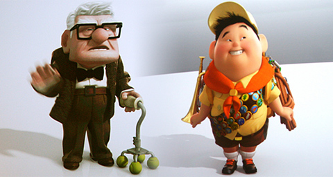 pixar up couple. Up#39;s Carl and Russell