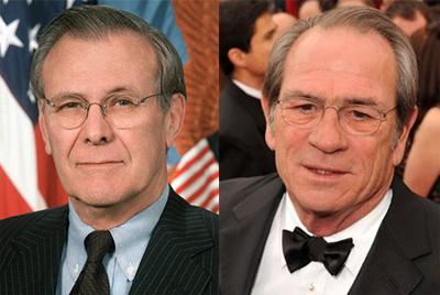 Tommy Lee Jones as Donald Rumsfeld