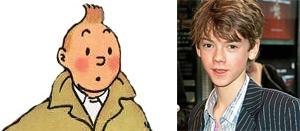 Thomas Sangster as Tintin