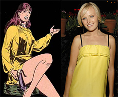 Malin Akerman is Silk Spectre / Laurie Jupiter