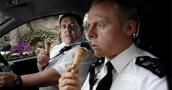 Nick Frost and Simon Pegg