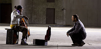 First Look: Jamie Foxx and Robert Downey Jr. in The Soloist