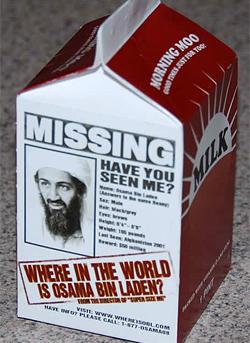 Where in the World Is Osama Bin Laden? Milk Carton