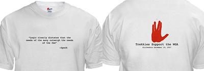 Star Trek Shirt - Writers Strike Swag