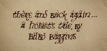 The hobbit writing