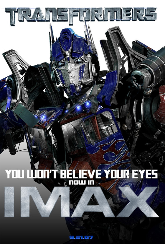 Transformers in IMAX
